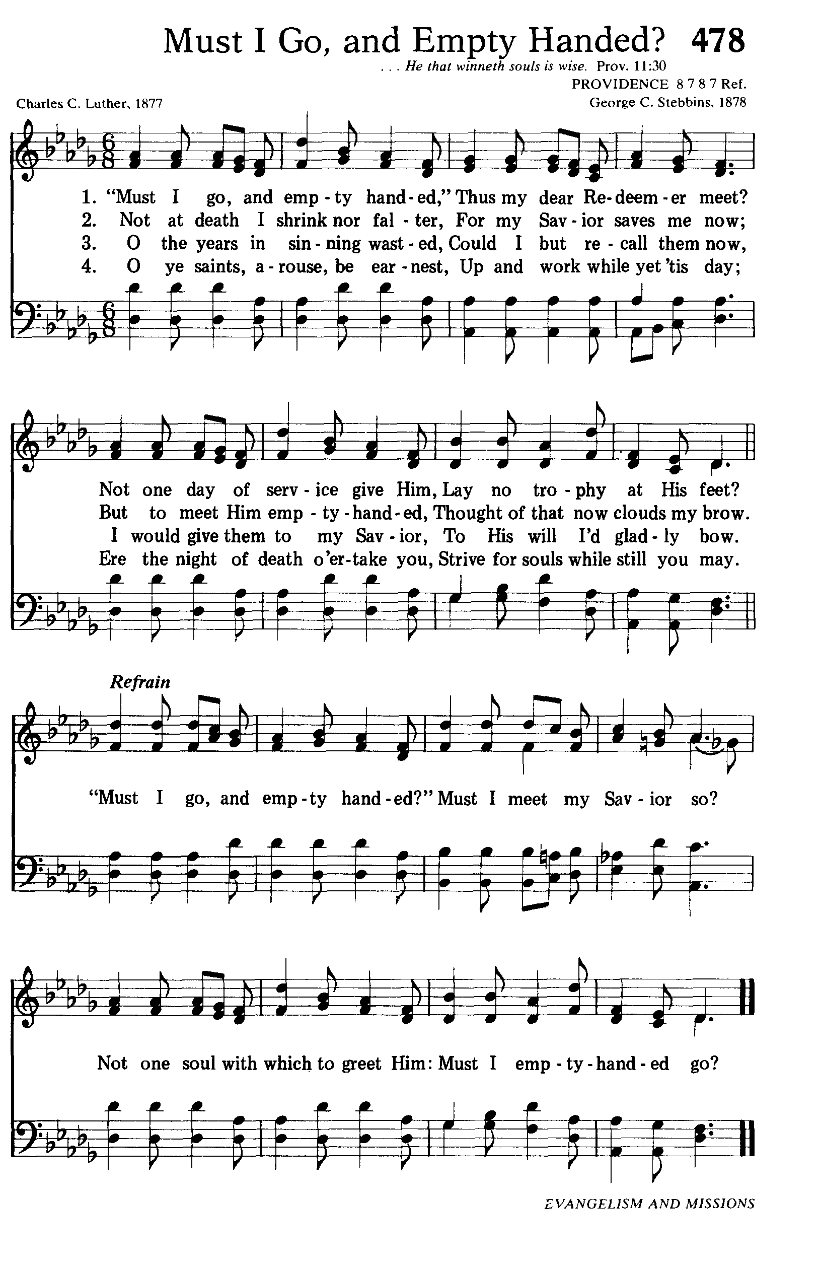 """Charles Carroll Luther wrote this hymn in 1877. I first heard this hymn while in high school when my late friend Ray Munsaka sung it in Tonga and the words and tune have never left my heart since then. My wife Enid does the Luhya version and I am content with the English version. The story behind this hymn is short but remarkable. It is a lovely hymn that speaks of our service for God. I have sung this hymn since I was young and it has always been a reminder that I should serve the Lord while I have breath. Charles Carroll Luther was a journalist and lay evangelist before being ordained as a Baptist minister in 1886. Though not a prolific composer, he authored this hymn in 1877 when he heard a Rev. A.G. Upham relate the story of a young man who was about to die. This young man had been a Christian for only one month. Though thankful to the Lord for granting him salvation during his final hour, he was nevertheless grieved that he'd had no opportunity to serve the Lord nor to share Him with others. He explained, """"I am not afraid to die; Jesus saves me now. But must I go empty handed?"""" Upon hearing this account, Luther wrote this hymn. Zokam, Zopau, Zolai for Zomi of Worldwide adventist and Christian believers, Tedim, Tiddim, Chin, Myanmar"""